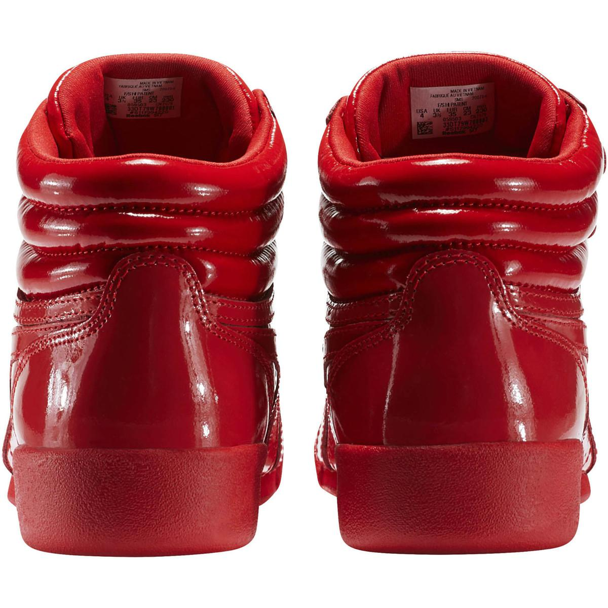 Reebok Freestyle Hi Patent Leather Cn2078 Women s High Boots In Red ... c85ba82f2