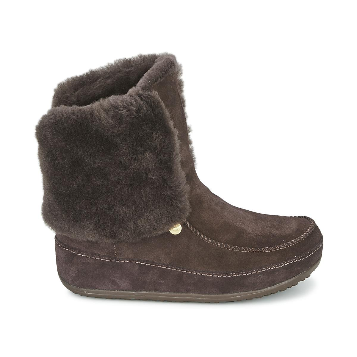 906c71212b018f Fitflop - Mukluk Moctm Cuff Women s Low Ankle Boots In Brown - Lyst. View  fullscreen