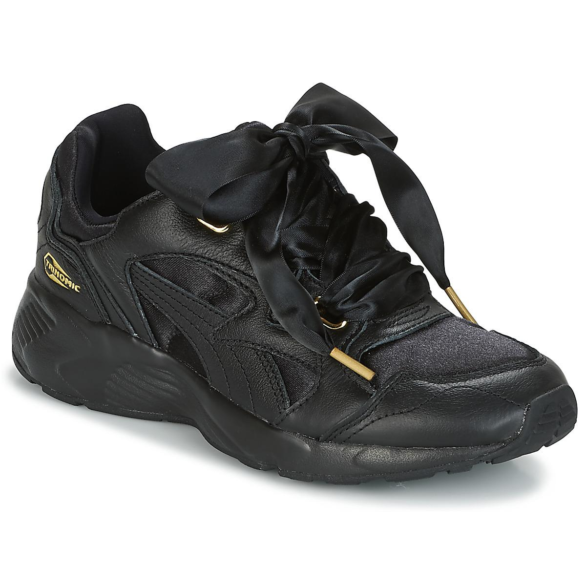 178c1e13c7d85 PUMA Prevail Heart Satin Women s Shoes (trainers) In Black in Black ...
