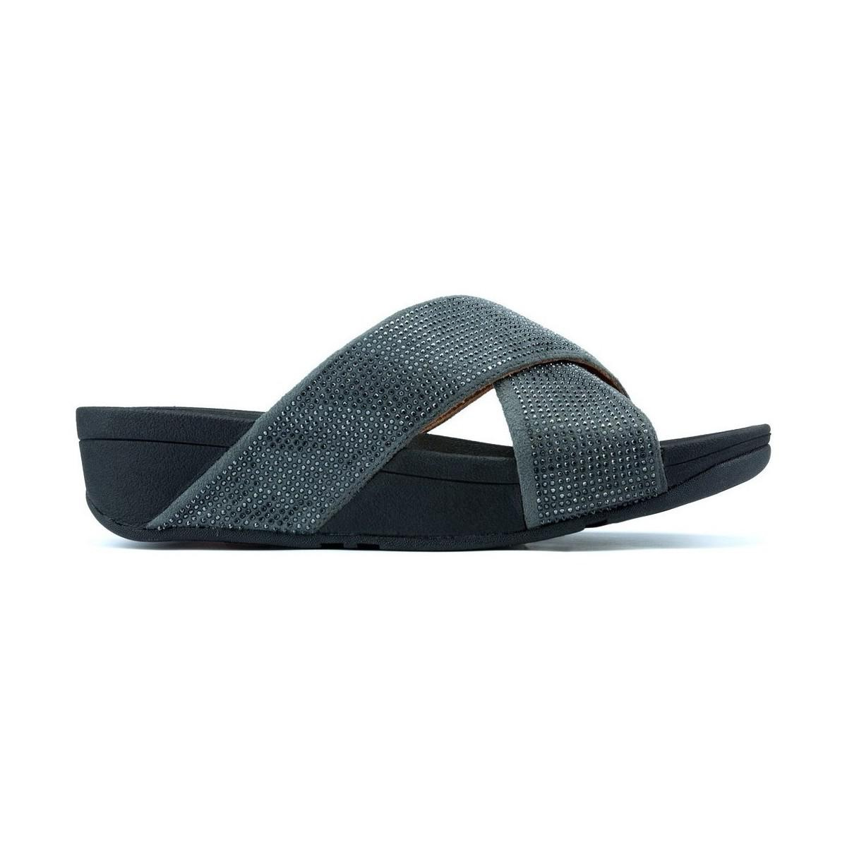 749f4258a7d4 Fitflop S Ritzy Slide W Women s Sandals In Black in Black - Lyst