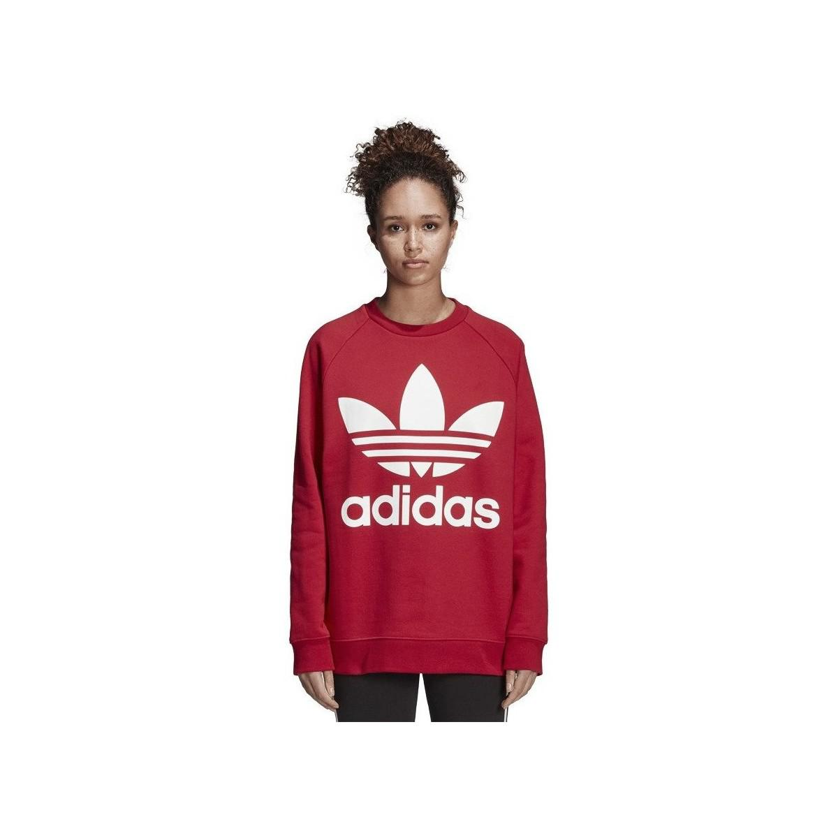 6e272186 adidas Originals Oversized Sweat Dh3140 Women's Sweatshirt In Red in ...