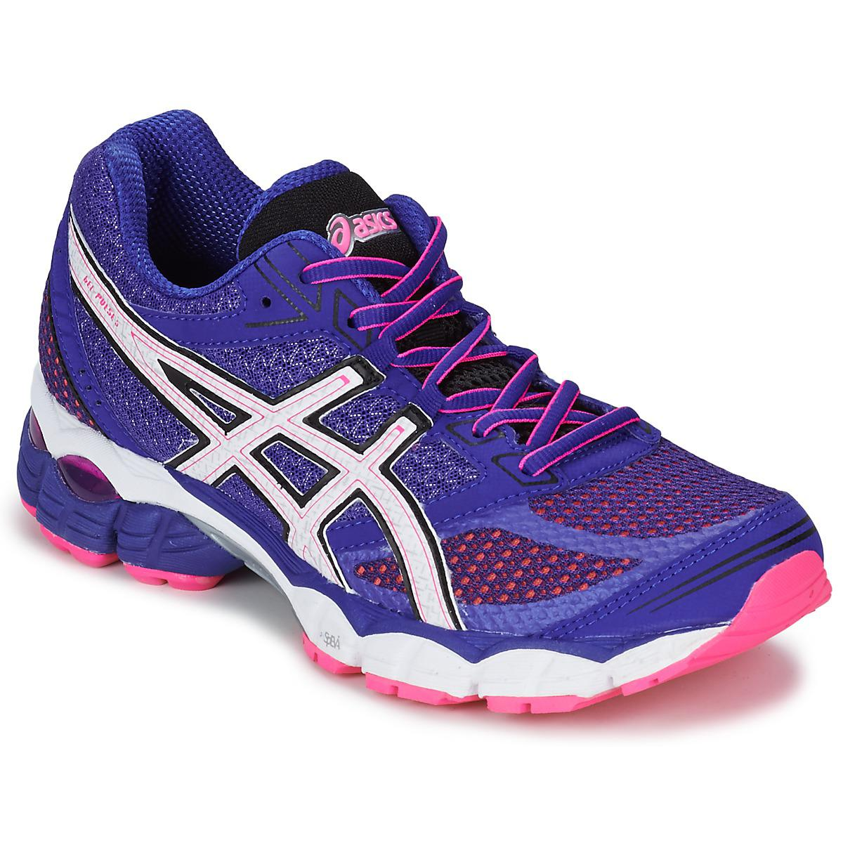 e16a857ee93d Asics Patriot 7 Trainers Womens Sports footwear Womens Trainers COLOUR -white pink blue