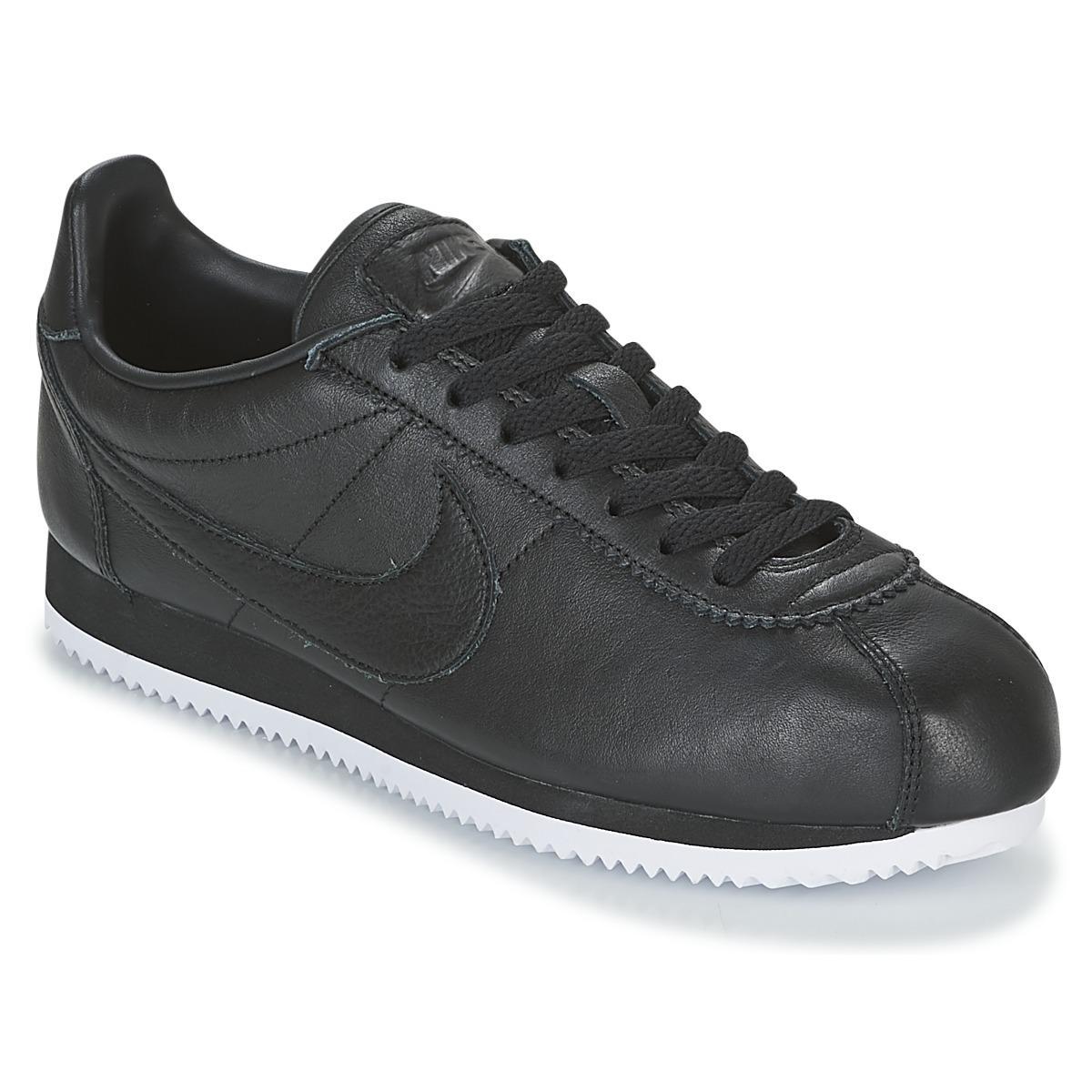 reputable site ce009 e40b6 ... canada nike classic cortez premium mens shoes trainers in black in  black f9713 65cb2 shopping nike air ...