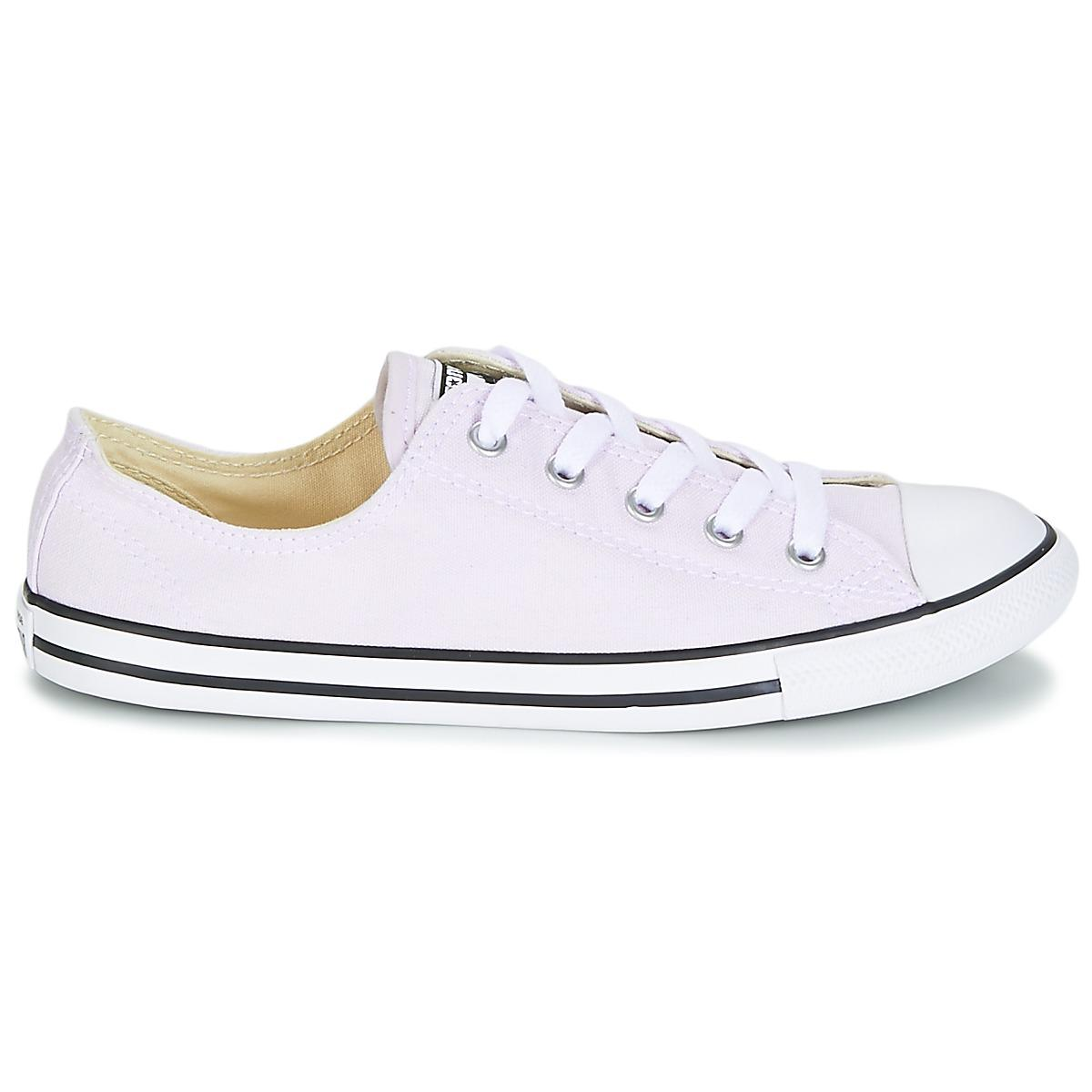 Women's Purple Chuck Taylor All Star Dainty Ox Canvas Colour Shoes (trainers)