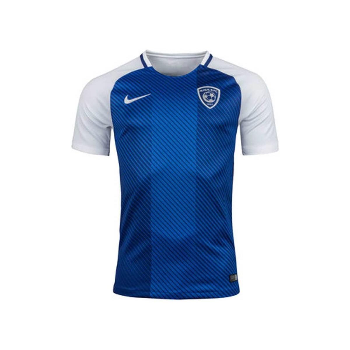 Nike 2017-2018 Al Hilal Home Football Shirt Women s T Shirt In Blue ... fc6a2f741