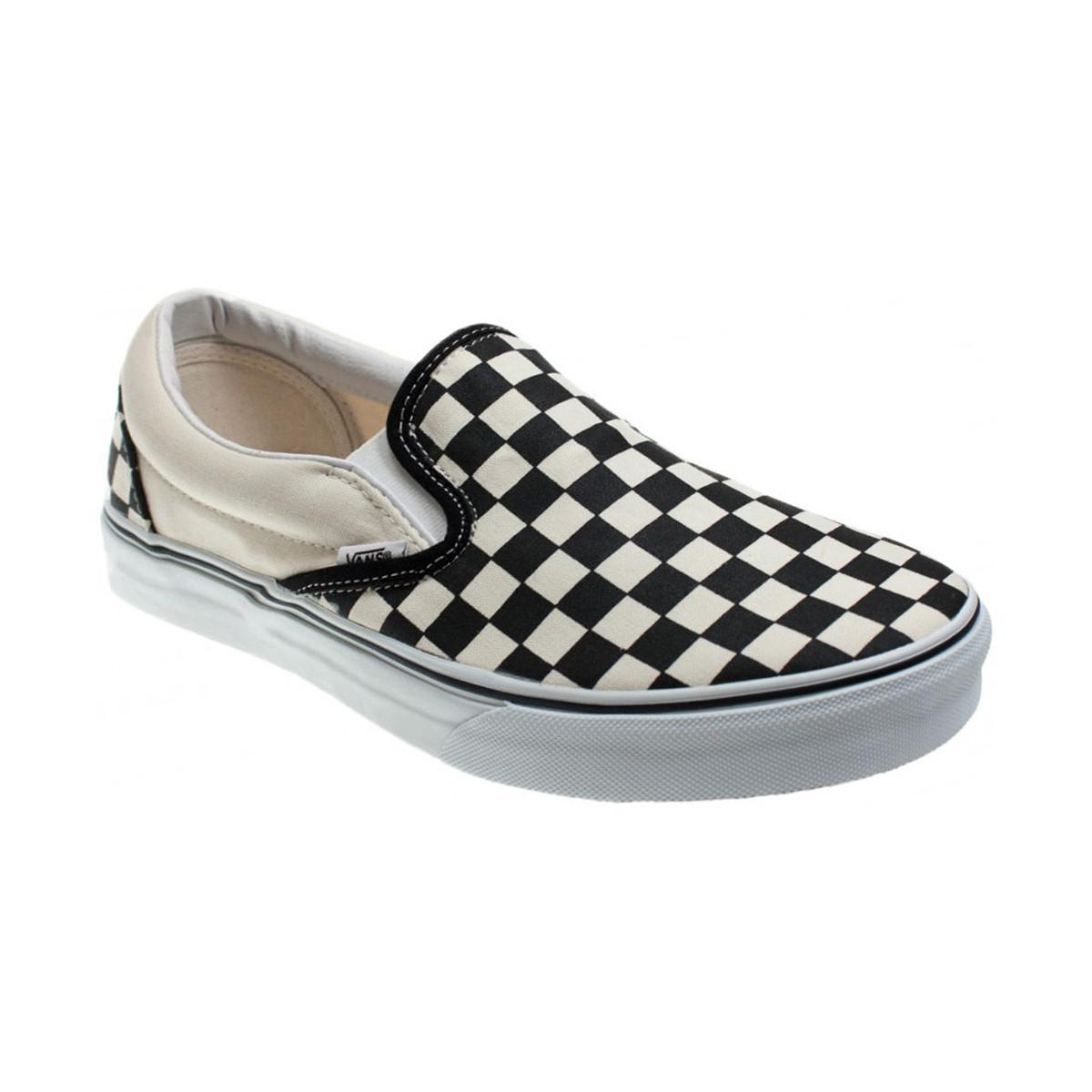 a4af7b2ee9 Vans Classic Black And Cream Checkerboard Slip-on Trainers - Womens ...