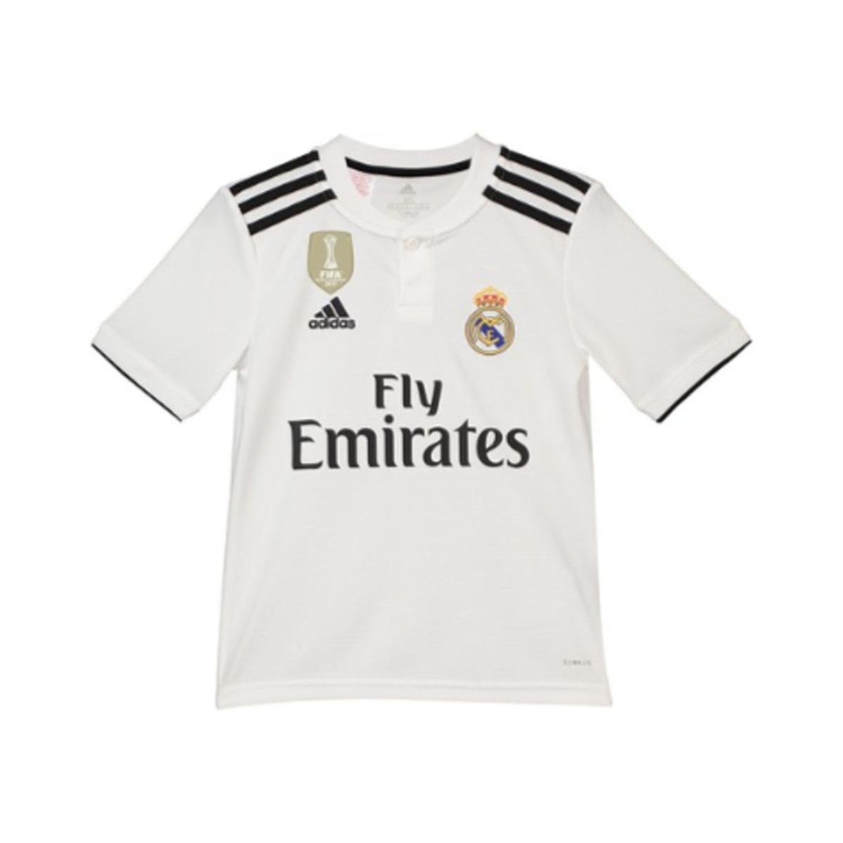 18d43d8fec3 Adidas - 2018-19 Real Madrid Home Football Shirt (bale 11) - Kids. View  fullscreen