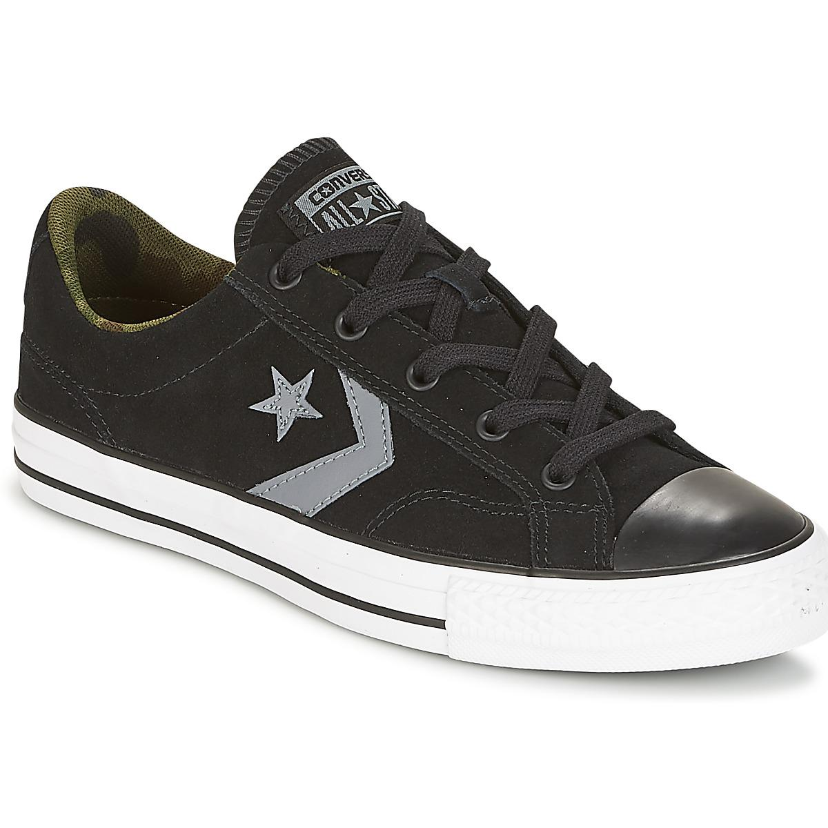 Converse Star Player Ox Camo Suede Mens Shoes trainers In Black