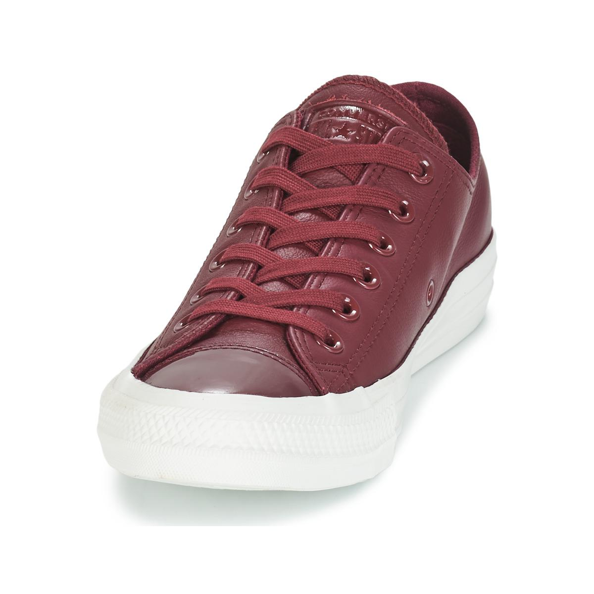 0838d4357fb Converse - Red Chuck Taylor All Star Leather Ox Shoes (trainers) - Lyst.  View fullscreen