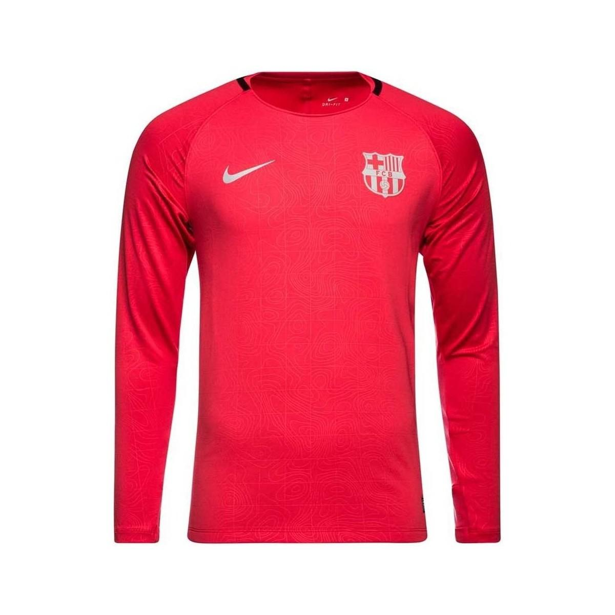 793f1d956 Nike 2018-2019 Barcelona Long Sleeve Training Shirt (tropical ...