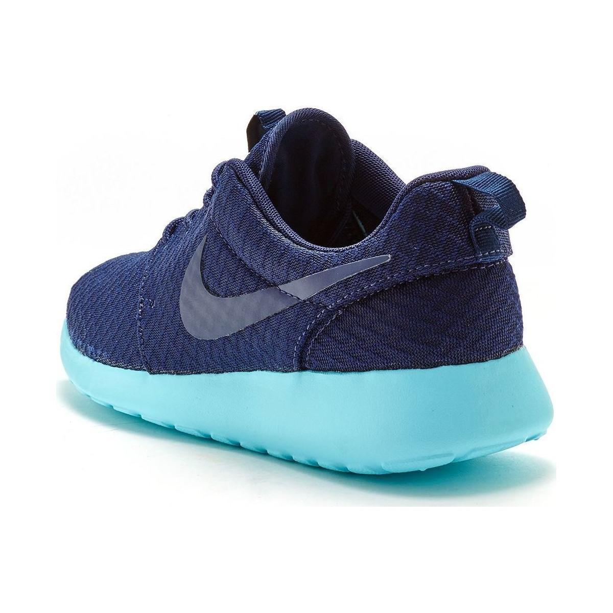 best website f56cf 498d4 Nike Roshe One Women Trainers In Midnight Navy Tide Pool Blue 5118 ...