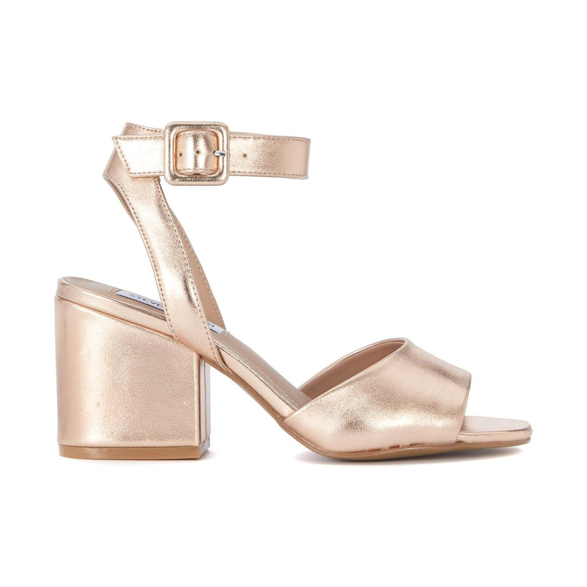 0230255b33d8 Steve Madden. Metallic Sandalo Debbie In Pelle Oro Rosa Women s Sandals In  Gold