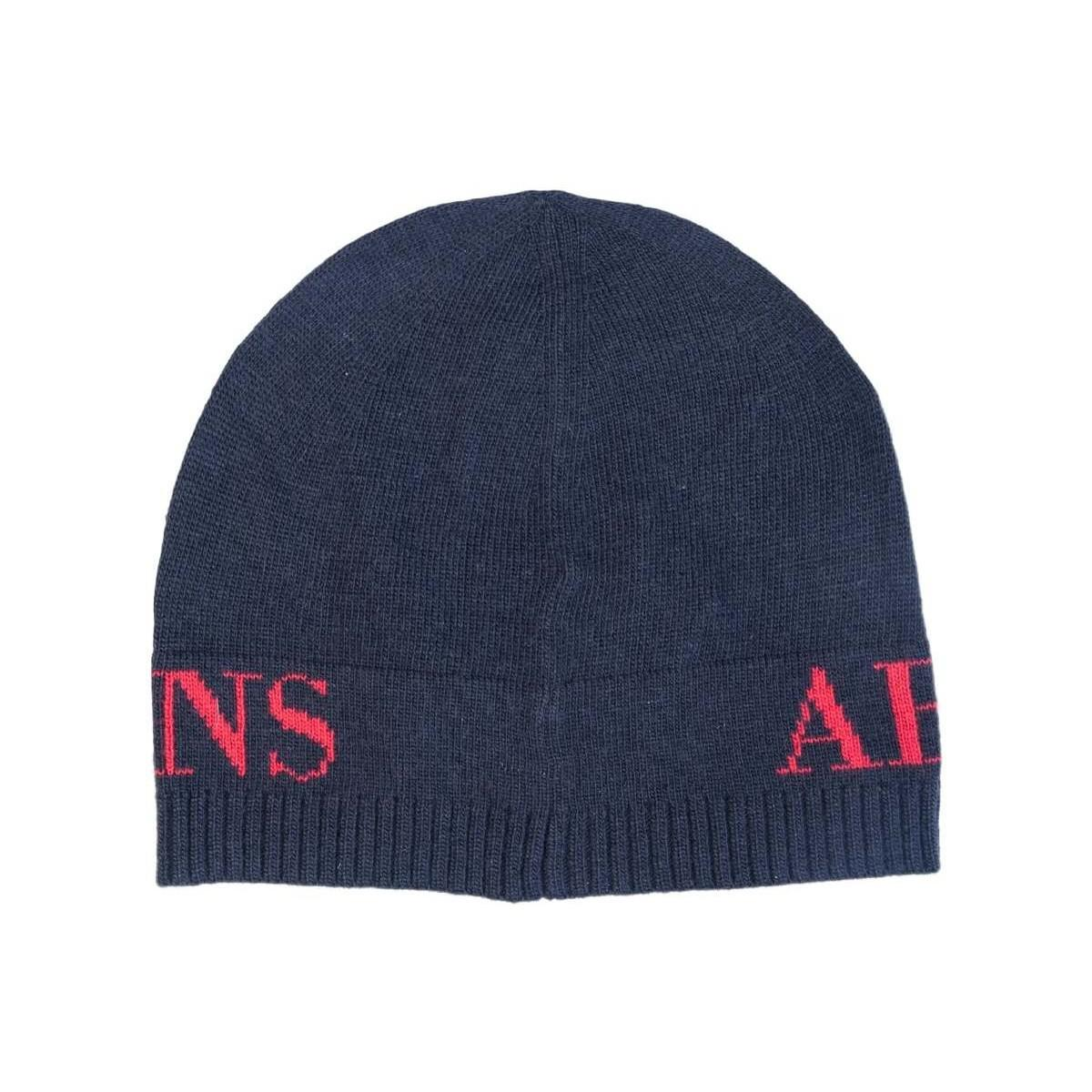 0fd7d5a1581 Armani Jeans - Gift Set Hat And Scarf 937503 Cc783 Men s Beanie In Blue for  Men. View fullscreen