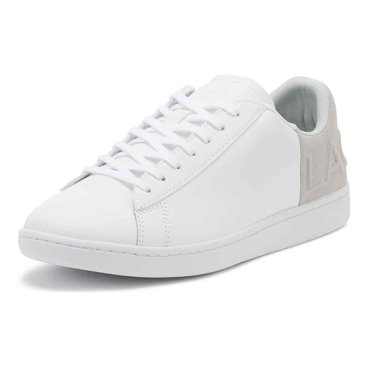 b2fbecead3afc7 Lacoste - Mens White   Light Grey Carnaby Evo 318 6 Trainers Men s Shoes ( trainers. View fullscreen