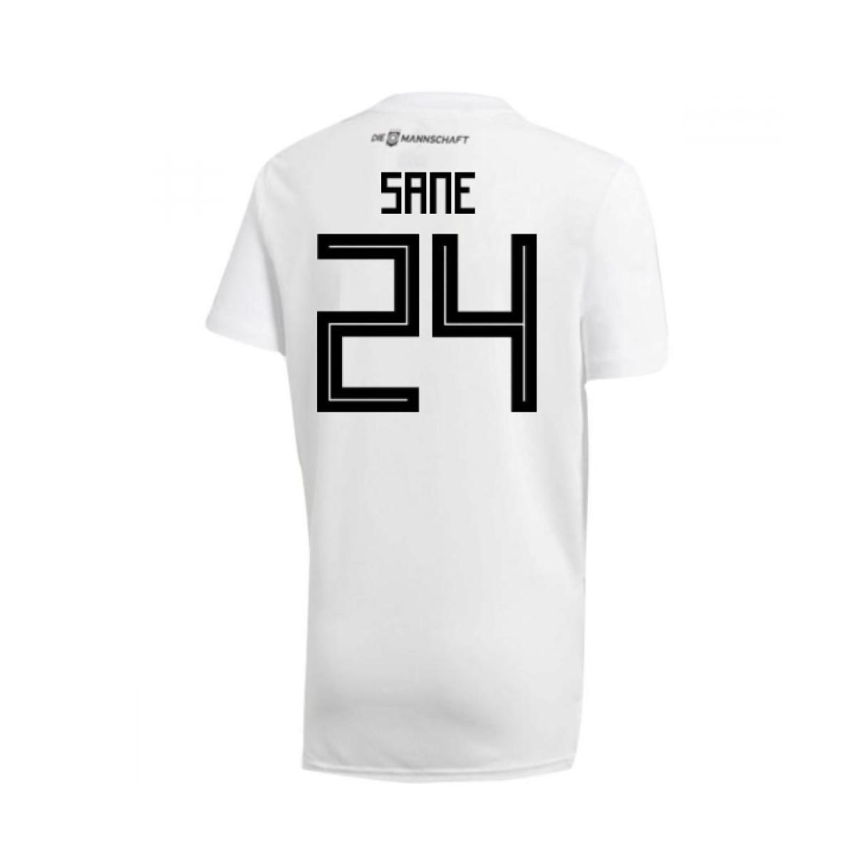 d9c16312a adidas 2018-19 Germany Home Training Shirt (sane 24) Men s T Shirt ...