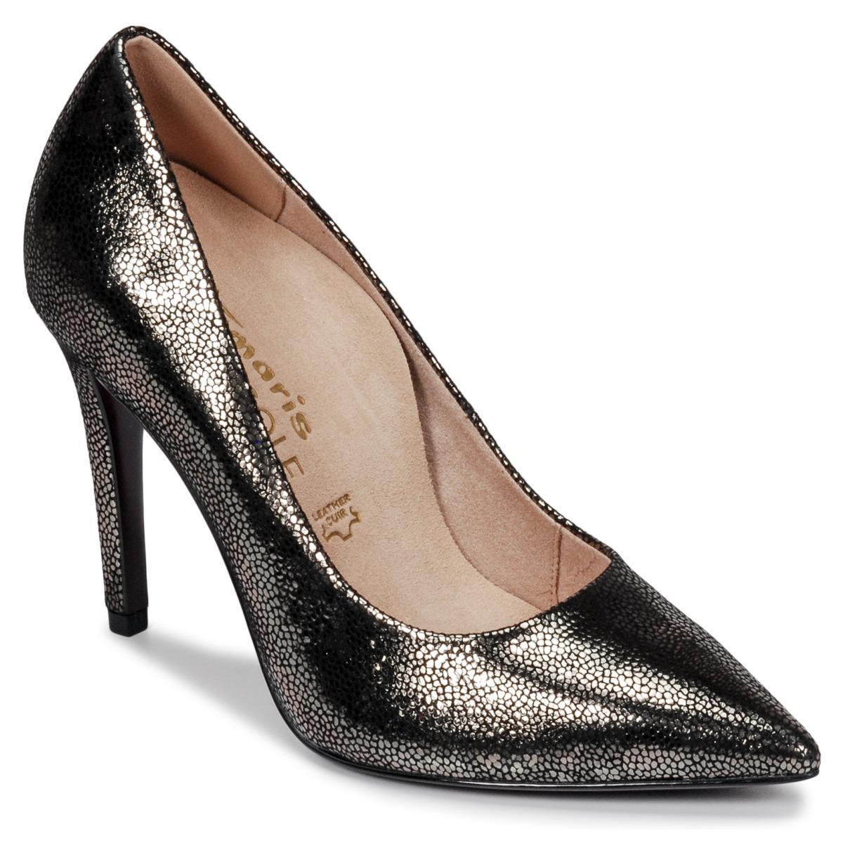 74a4ee7f4f2 Lyst - 22439 femmes Chaussures escarpins en Noir Tamaris en coloris ...