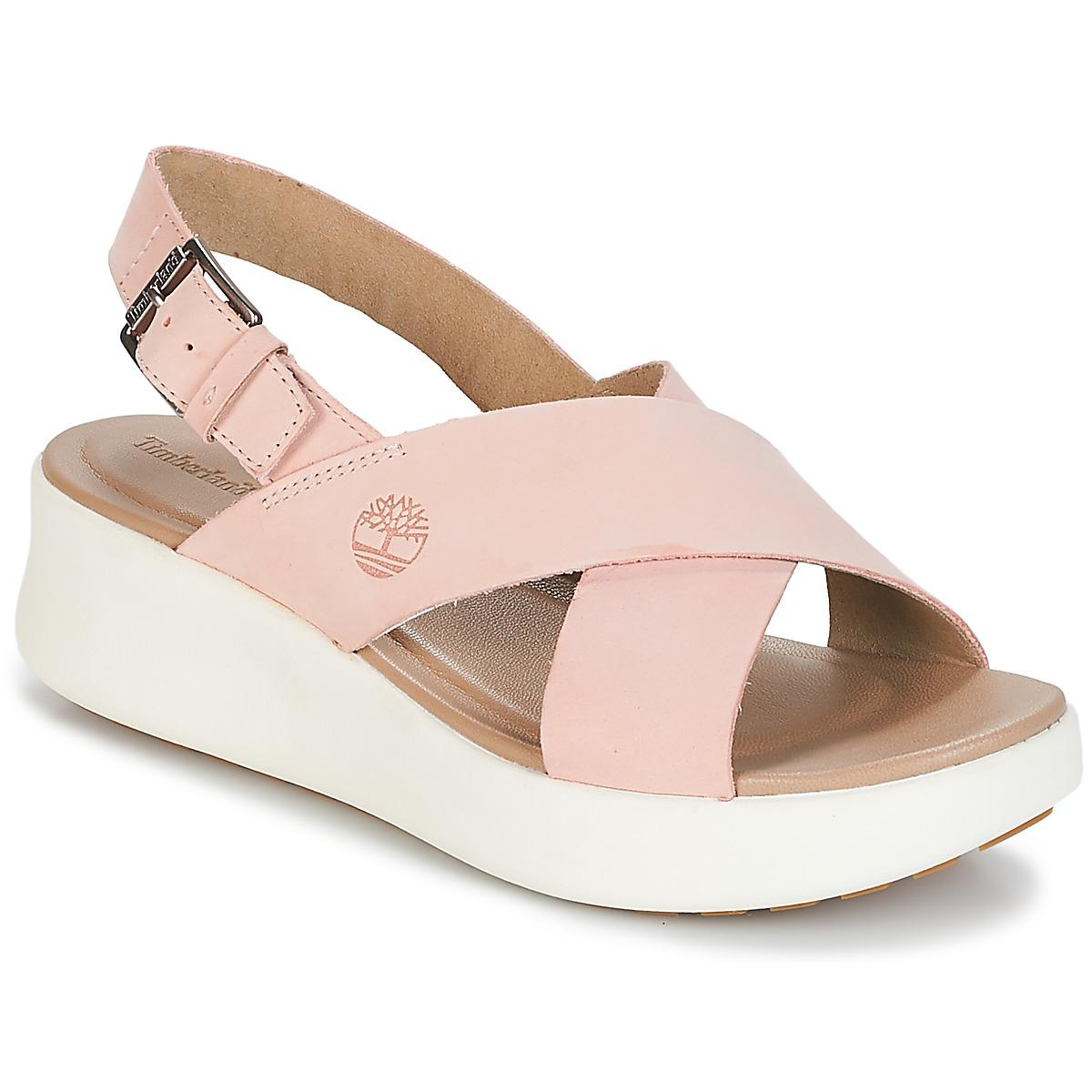 c010a822748d Timberland los angeles wind slingbac womens sandals in pink in pink jpg  1200x1200 Timberland wedges for