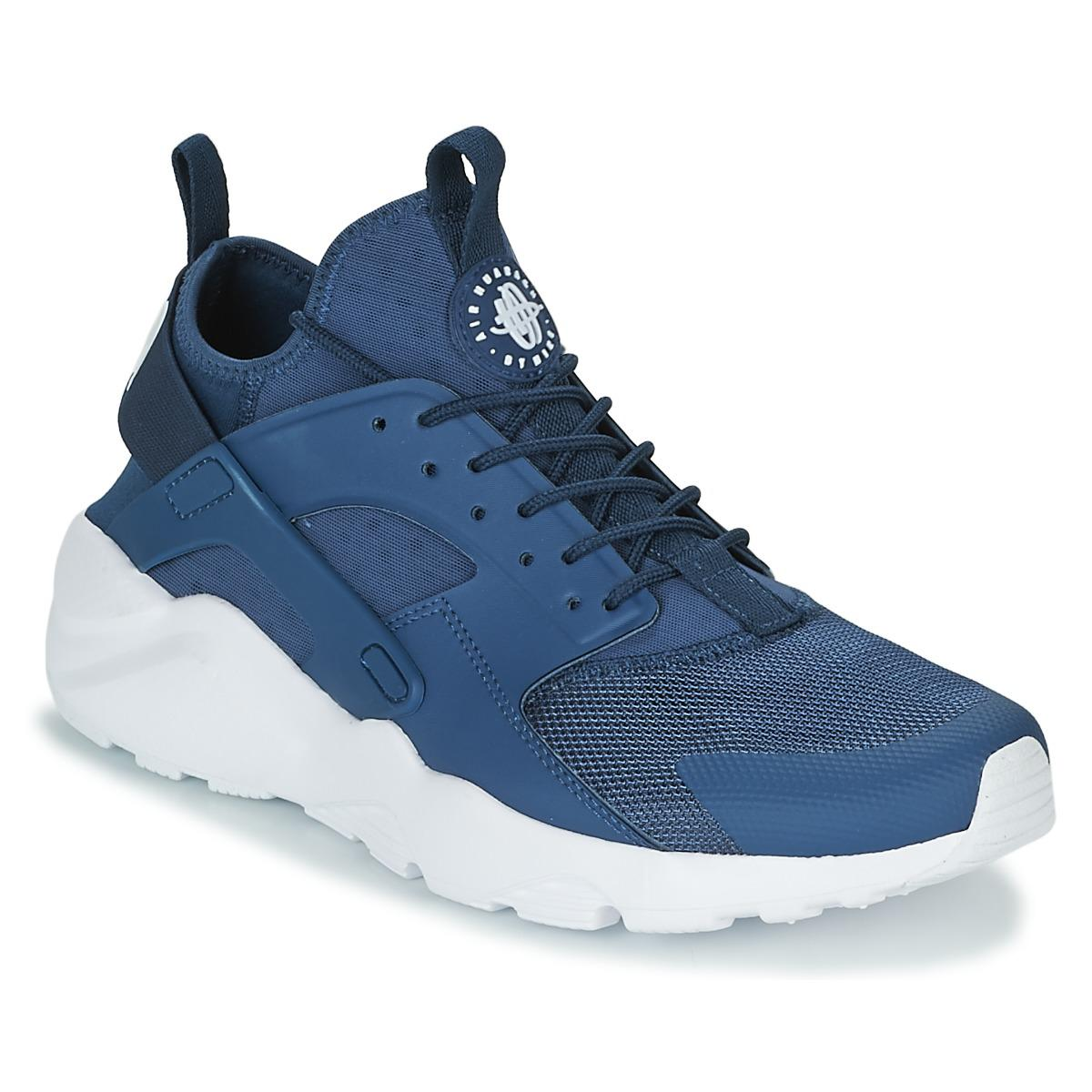 Nike Air Huarache Run Ultra Shoes Trainers In Blue For