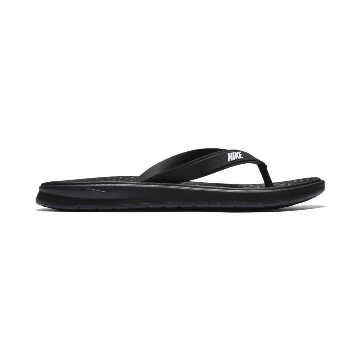 the latest 73498 7c4d8 nike schwarz solay thong sandalen
