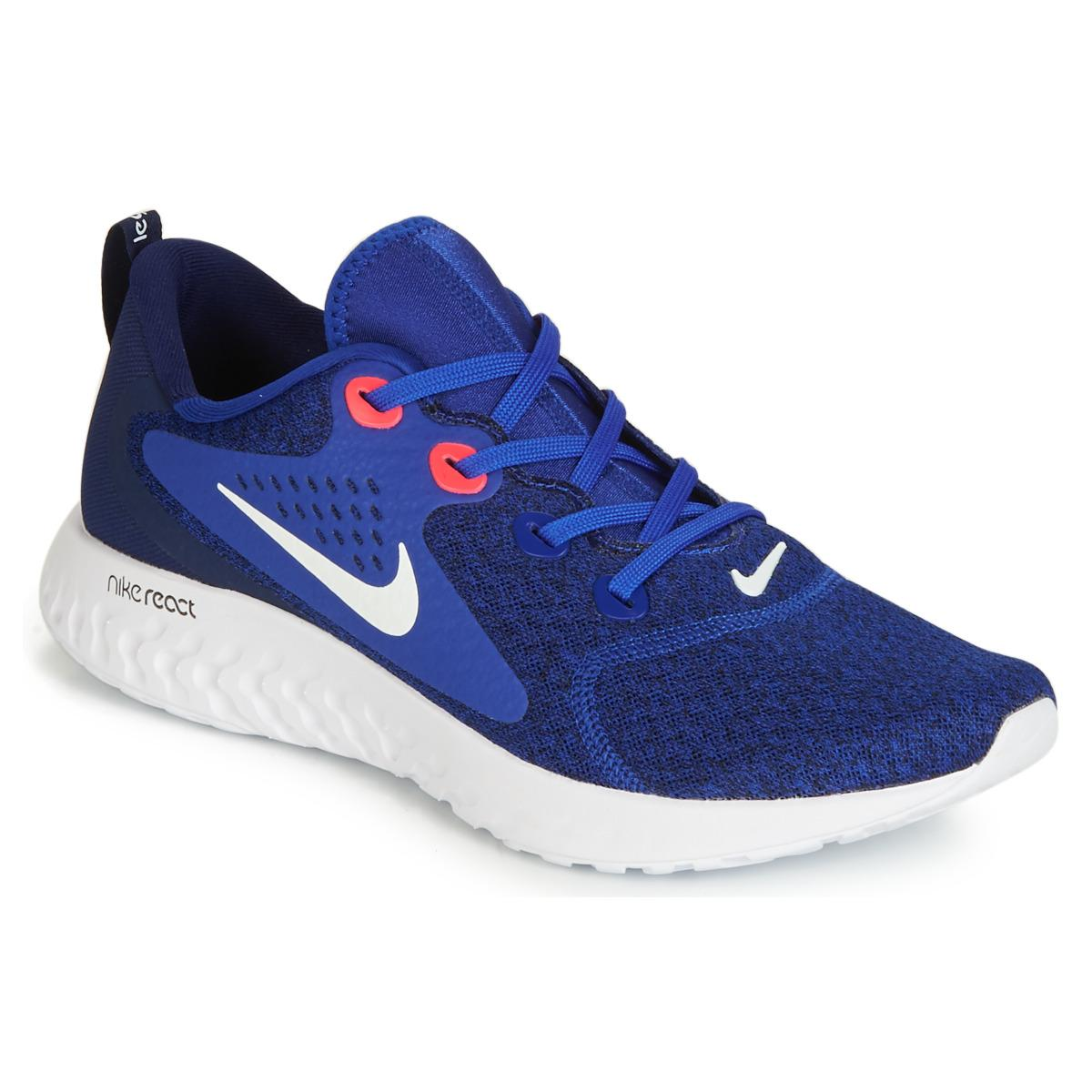 100% authentic cd940 56d9b Nike Rebel React Men s Running Trainers In Blue in Blue for Men - Lyst