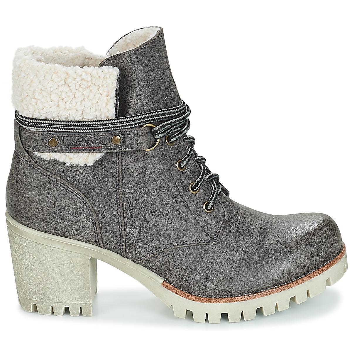 S in Gray Grey Boots Oliver Women's Ankle Koper Low Lyst In xrxw8Hqz