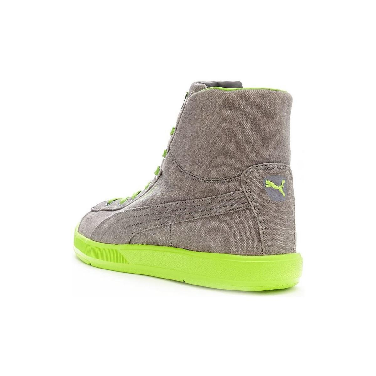PUMA Archive Lite Mid Washed Trainers In Grey Green 355536 03 Men s ... b0e46c5f252b
