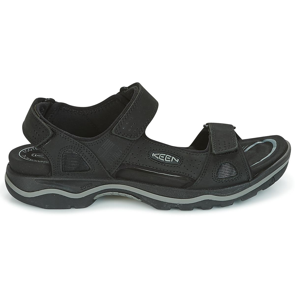 48de88234036 Keen Rialto 3 Point Men s Sandals In Black in Black for Men - Lyst