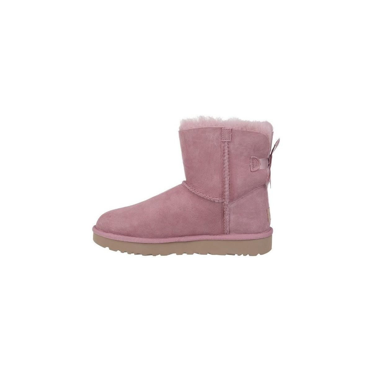 b53fbd7c3d5 UGG Mini Bailey Bow Ii Women's Snow Boots In Pink in Pink - Lyst
