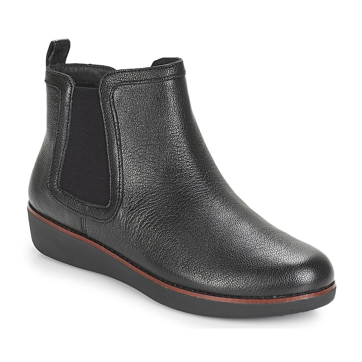 dd5c0a9e4fbf42 Fitflop Chai Women s Mid Boots In Black in Black - Lyst