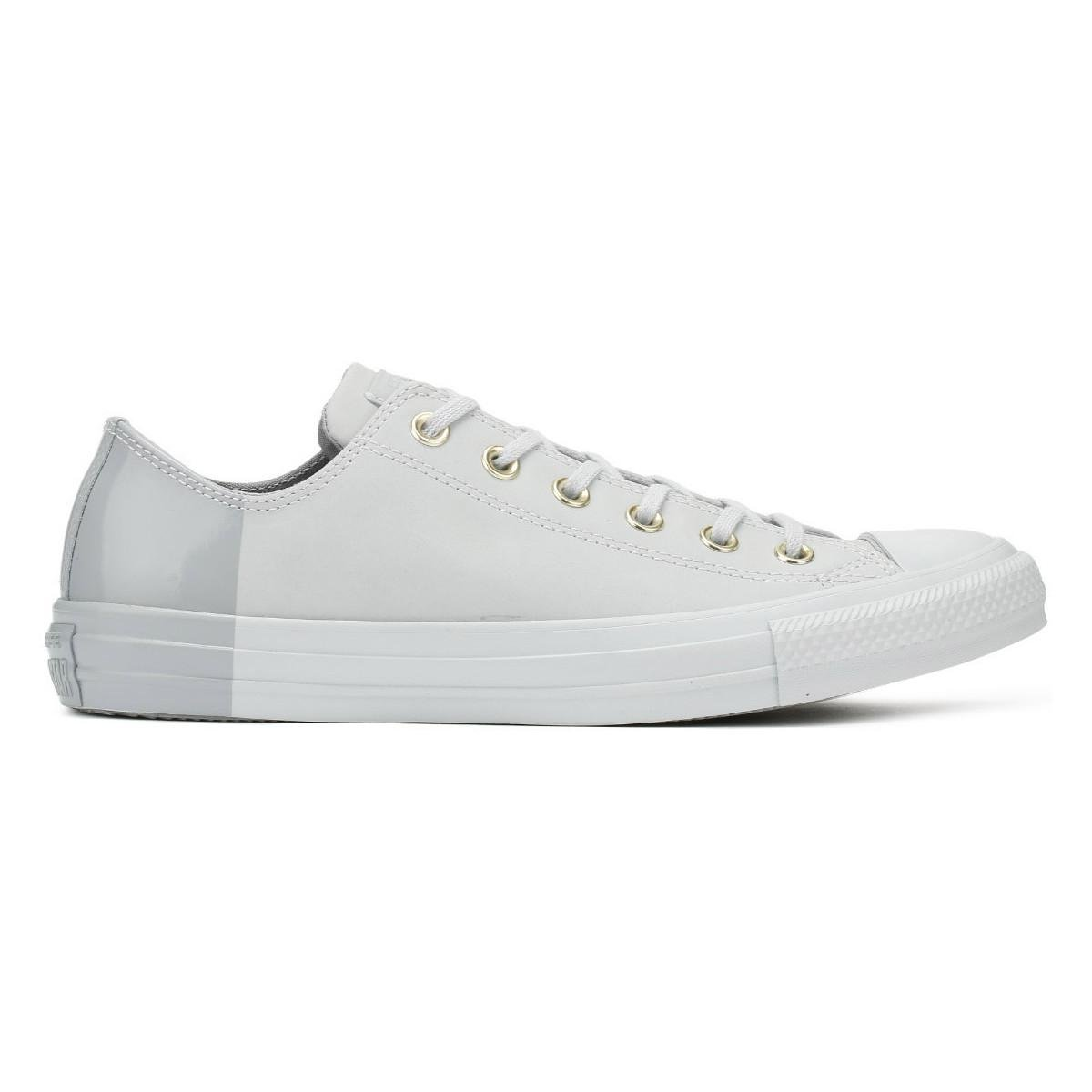 8daab04c1d38 Converse - Gray Chuck Taylor All Star Womens Pure Platinum Ox Trainers  Women s Shoes (trainers. View fullscreen