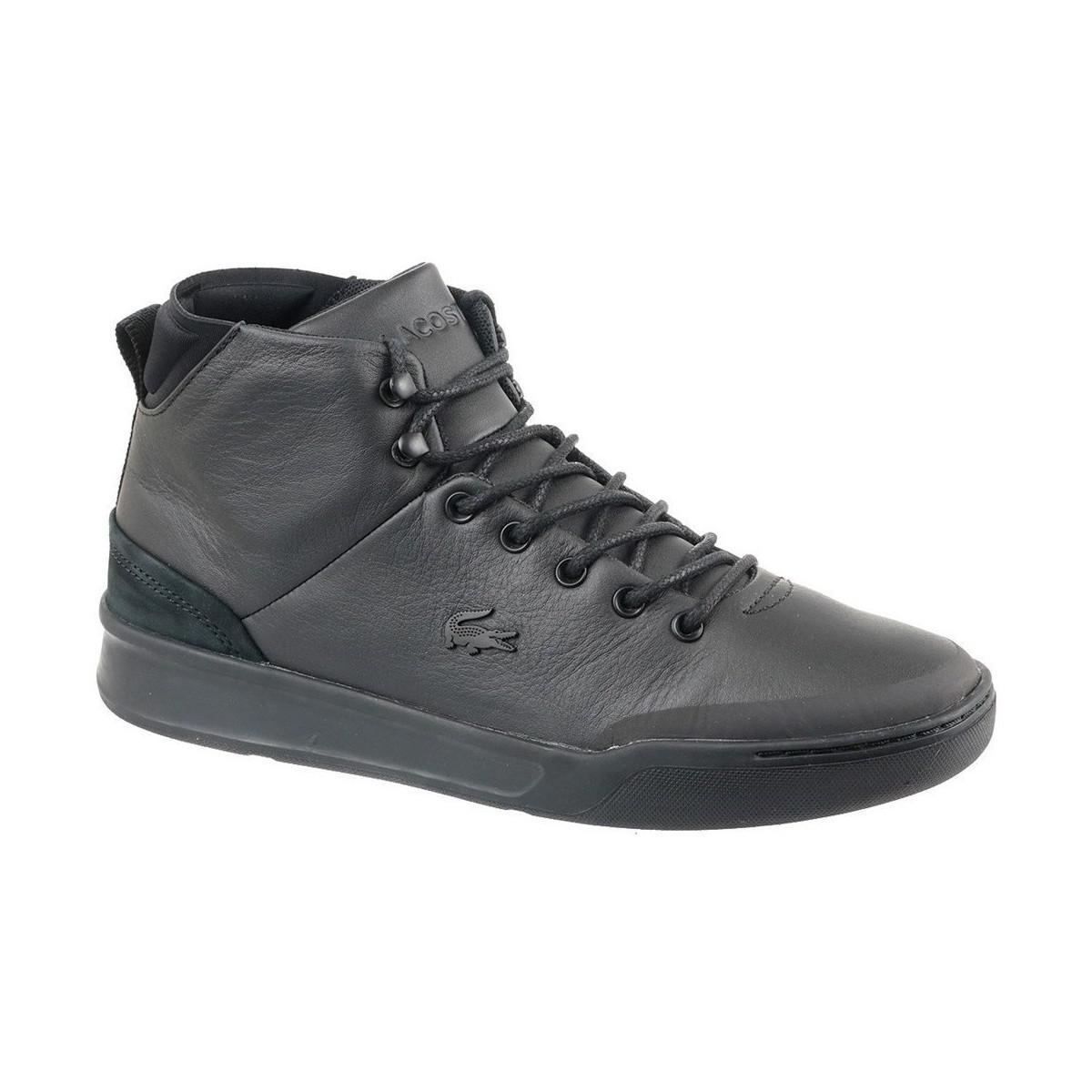 73ca4704e Lacoste Explorateur Classic Men s Shoes (high-top Trainers) In Black ...