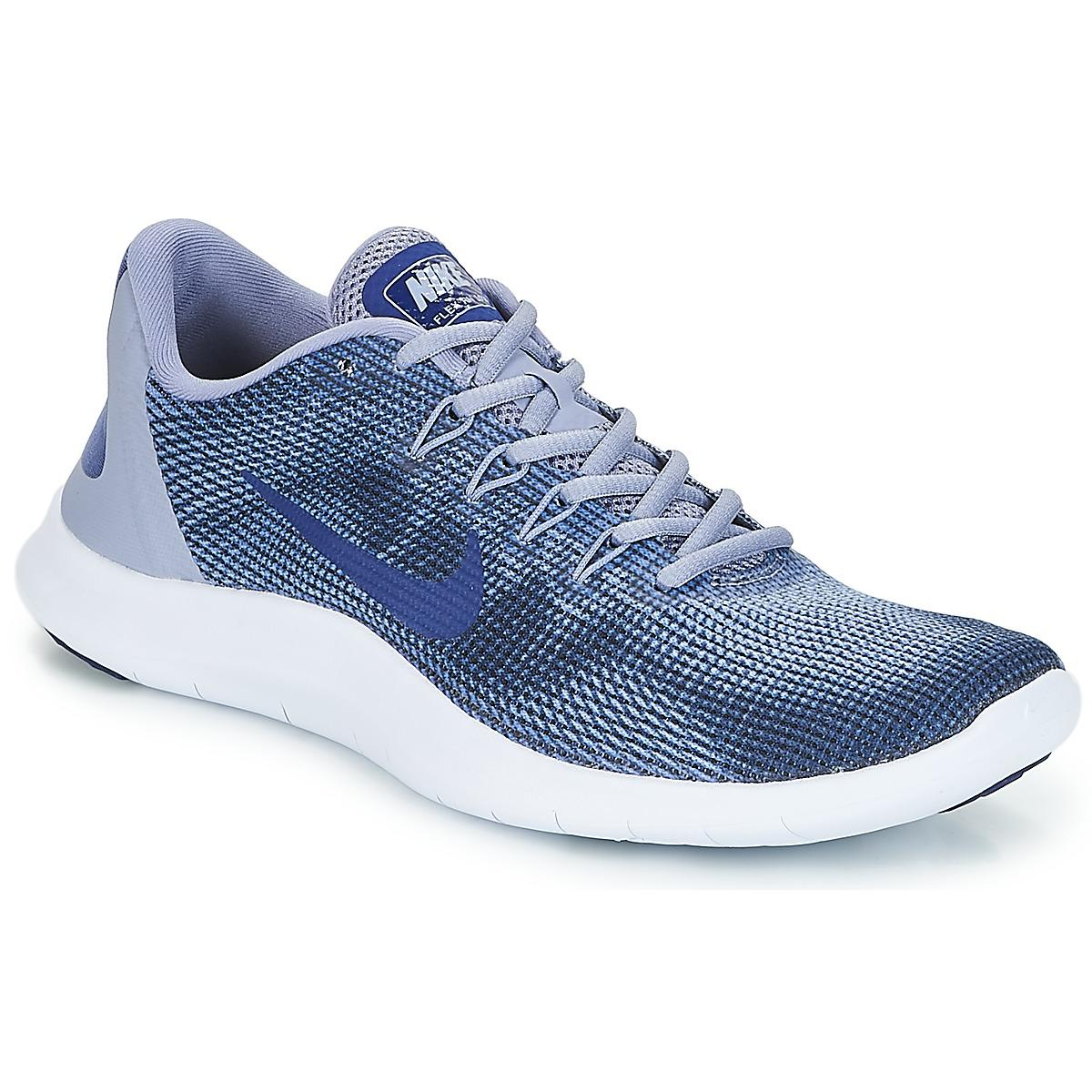 3787a490474 Nike Flex Run 2018 Running Trainers in Blue for Men - Save 17% - Lyst