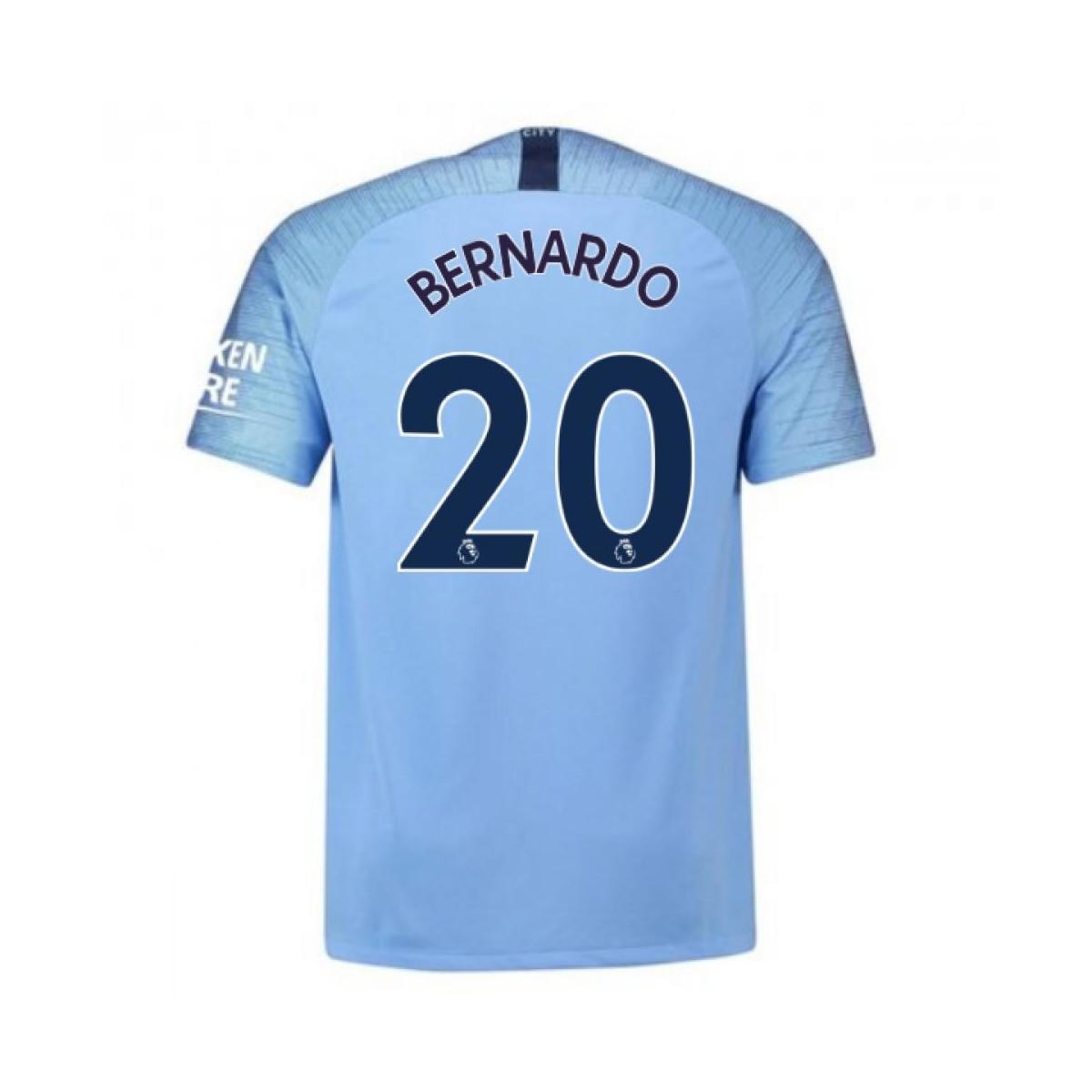 New Balance 2018-2019 Man City Home Football Shirt (bernardo 20 ... 62bece197