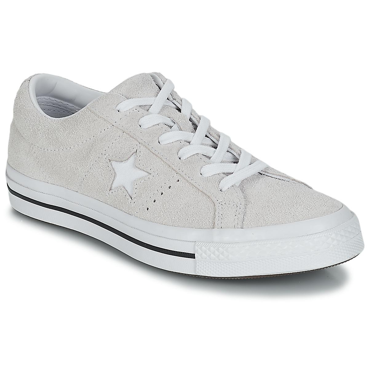 Converse One Star Ox Women s Shoes (trainers) In White in White - Lyst a2bdd6b1e