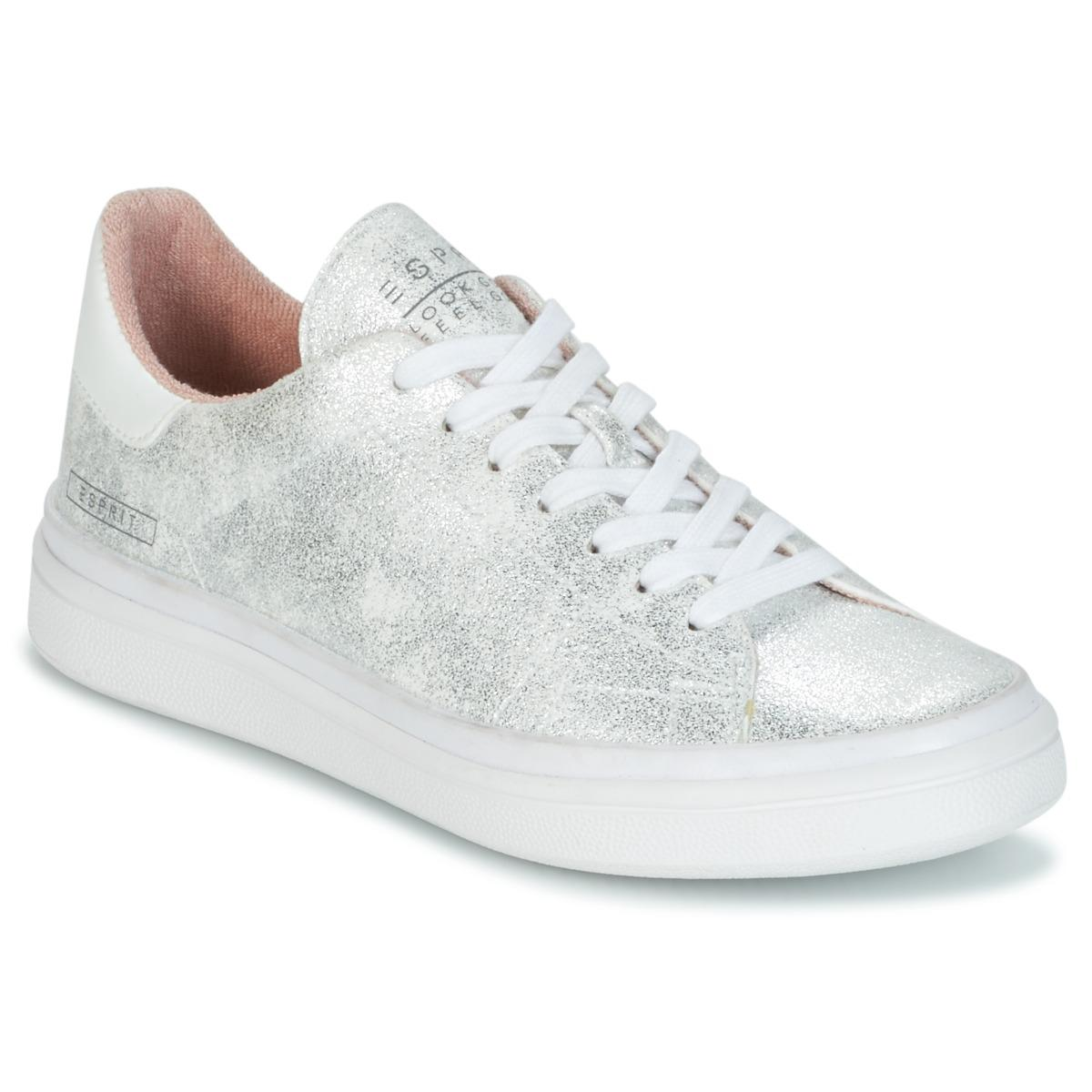 30e99c8f4d25 Esprit Gigi Lace Up Shoes (trainers) in Metallic - Lyst