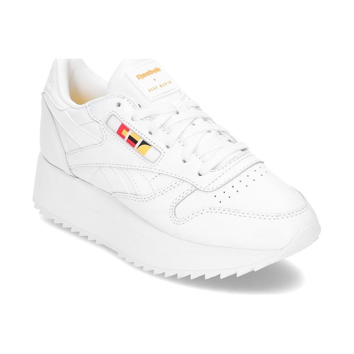 7fcd289db4c Reebok Classic Leather Double X Gigi Hadid Women s Shoes (trainers ...
