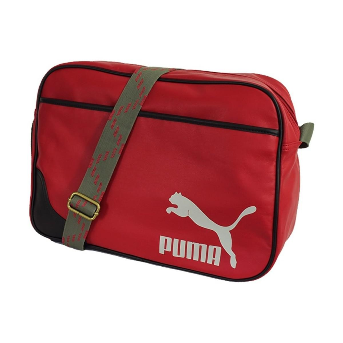 0432a88967 PUMA Originals Reporter Men s Messenger Bag In Red in Red for Men - Lyst