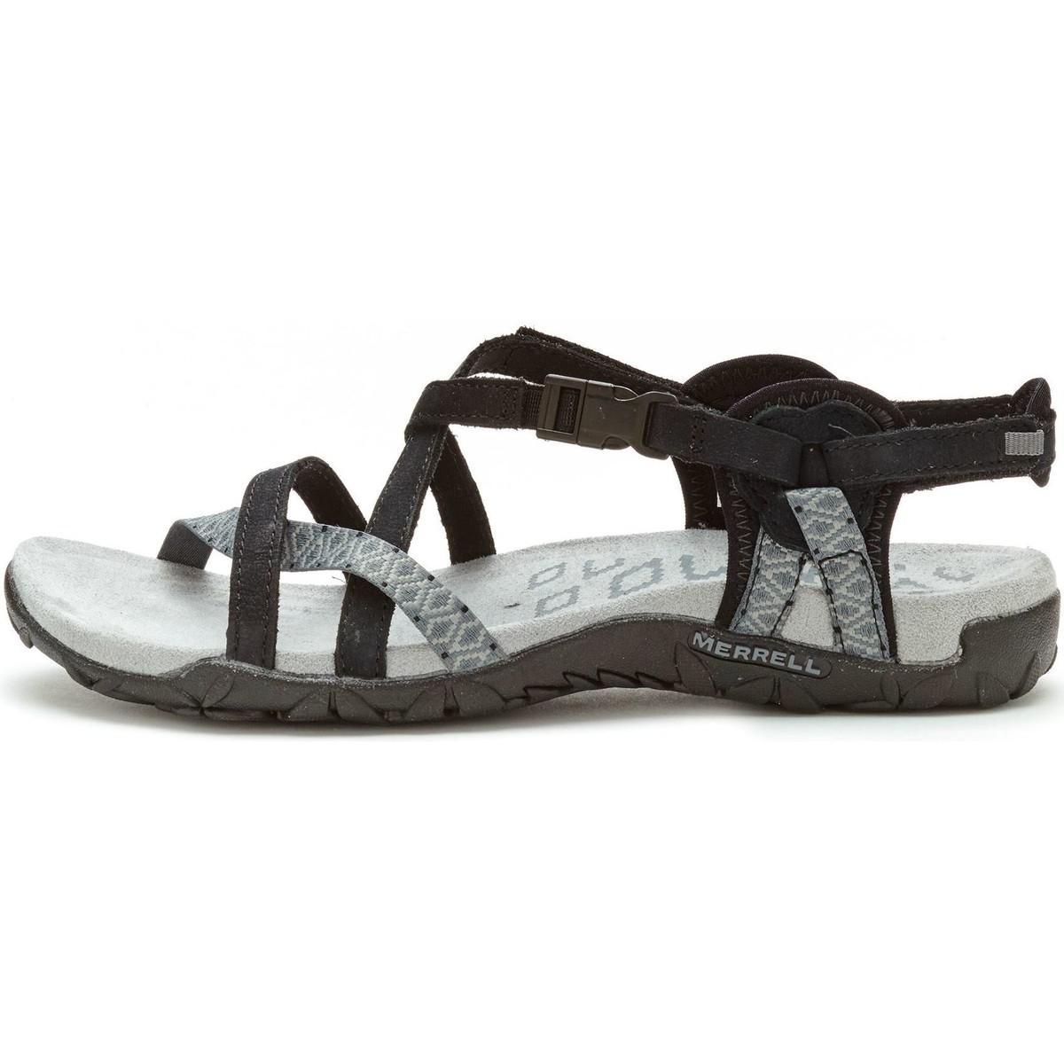 eaffbfcd3840 Merrell Terran Lattice Ii Women Sandals In Black Grey J55318 Women s ...