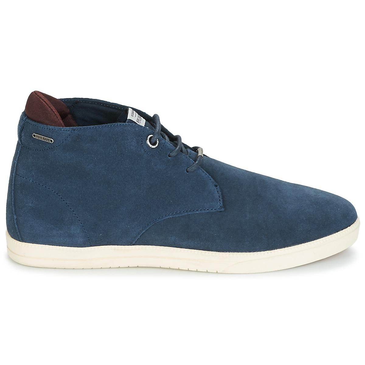 fa93b7390e Pepe Jeans Bolton Shoes (high-top Trainers) in Blue for Men - Lyst