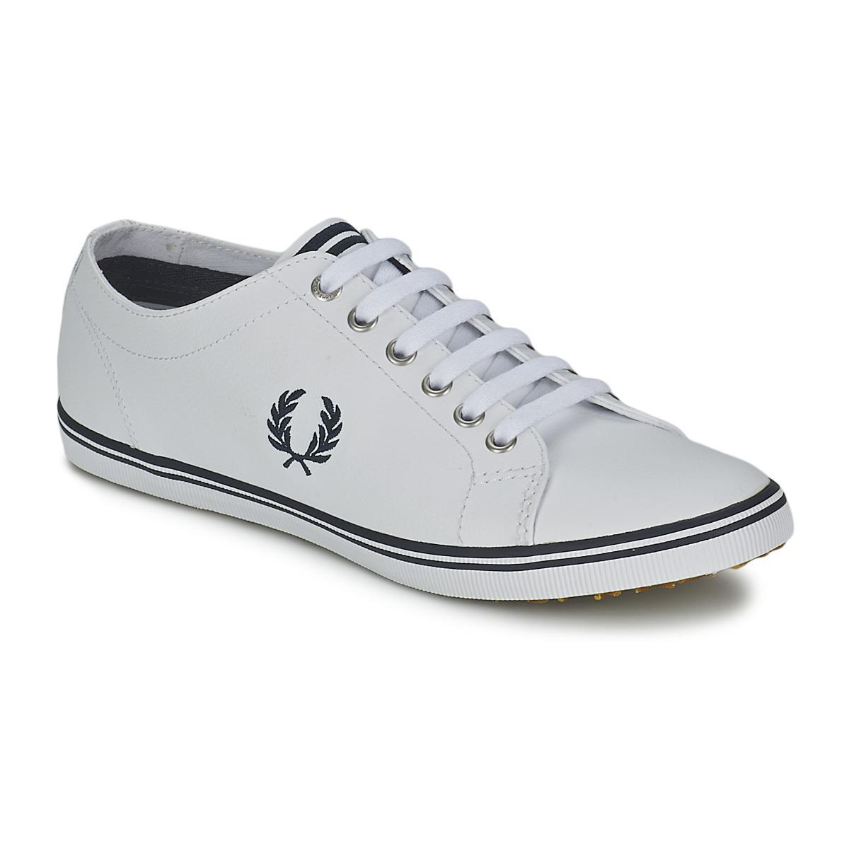 Fred Perry. Kingston Leather Men's Shoes (trainers) In White