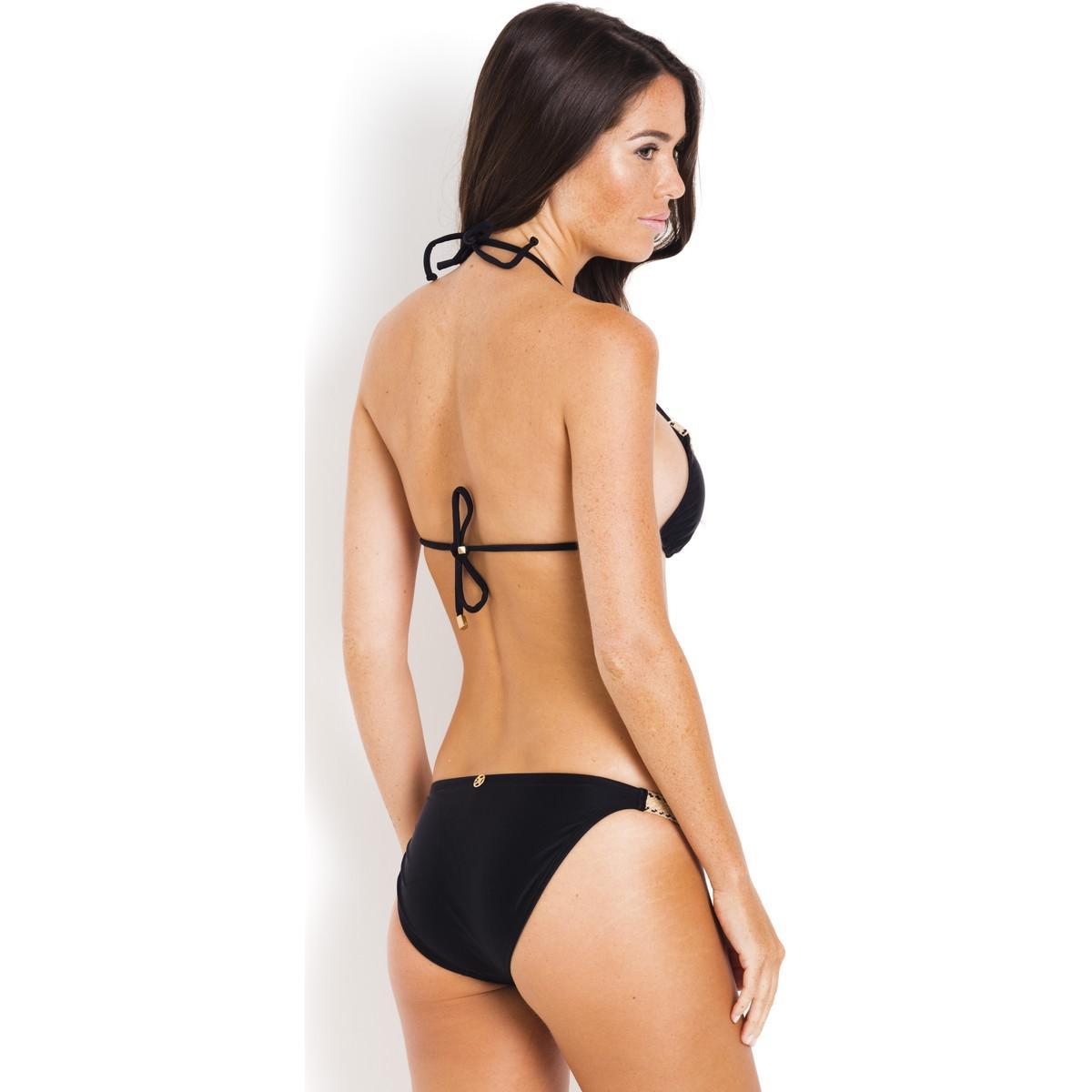 Professional For Sale Clearance Online Cheap Real Slim Ibiza Jute VIX PaulaHermanny Black Bikini top on the shoulder straps VIX PAULAHERMANNY 0G8psY3mx