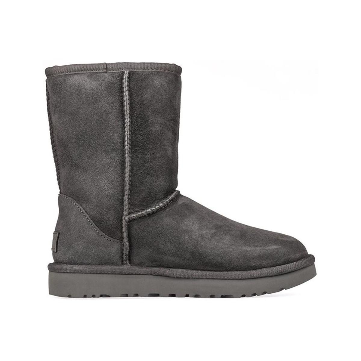 83fc89fec05a Ugg Classic Grey Short Mid Gray Ii Women s Boots Lyst In a7TqawWrF