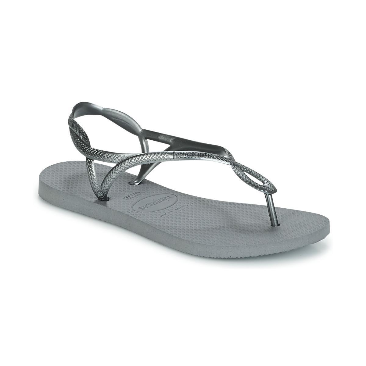 b09d390208afa5 Havaianas. Metallic Luna Women s Flip Flops   Sandals (shoes) In Silver