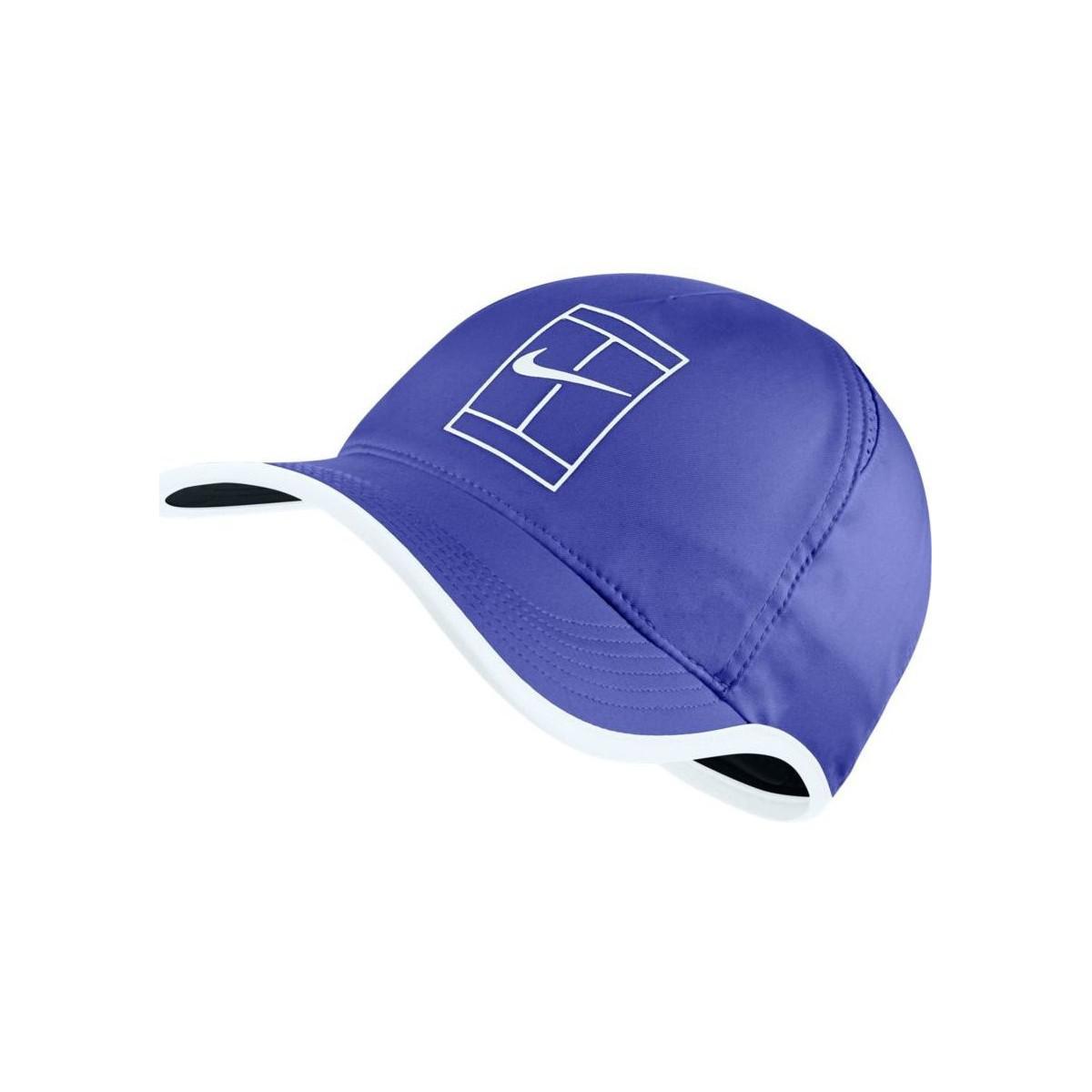 b6fa12615 Nike Court Aerobill Featherlight Tennis Cap Men's Cap In Blue in ...
