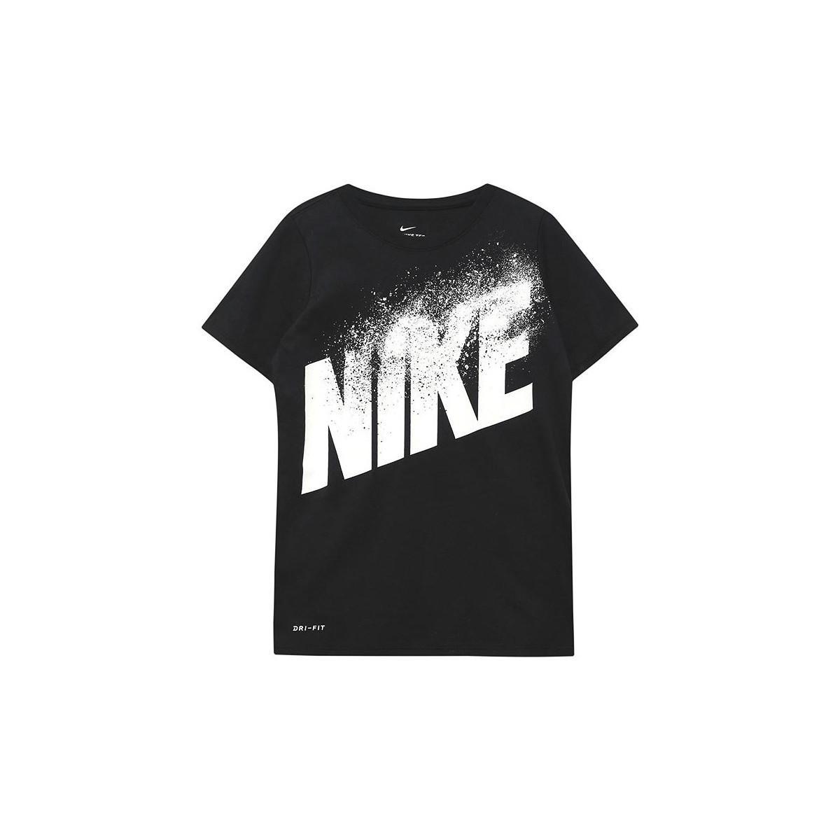 e71aa2d8154 Nike B Nk Dry Tee Dissolve Blk Men s T Shirt In Black in Black for ...