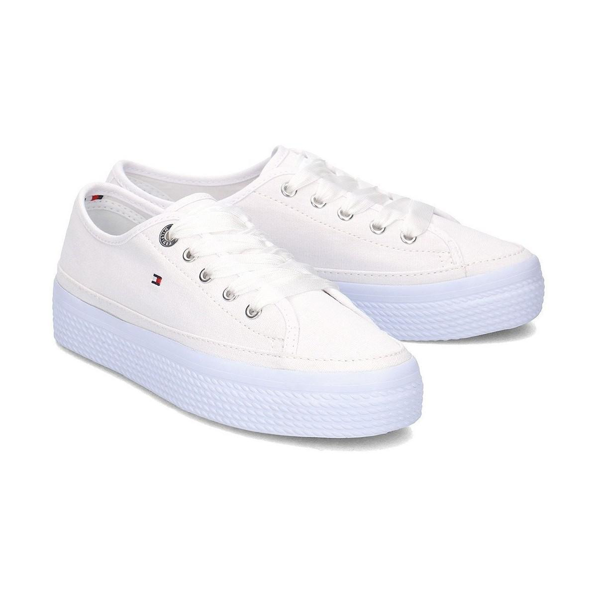 ba8d162c56d77d Tommy Hilfiger Fw0fw02994425 Women s Shoes (trainers) In White in ...