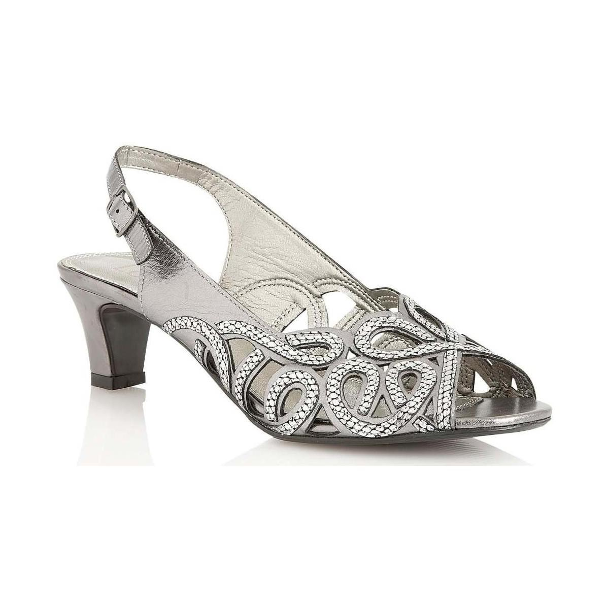 ff09b230052d6 Lotus Harper Womens Peep Toe Sandals Women's Sandals In Silver in ...
