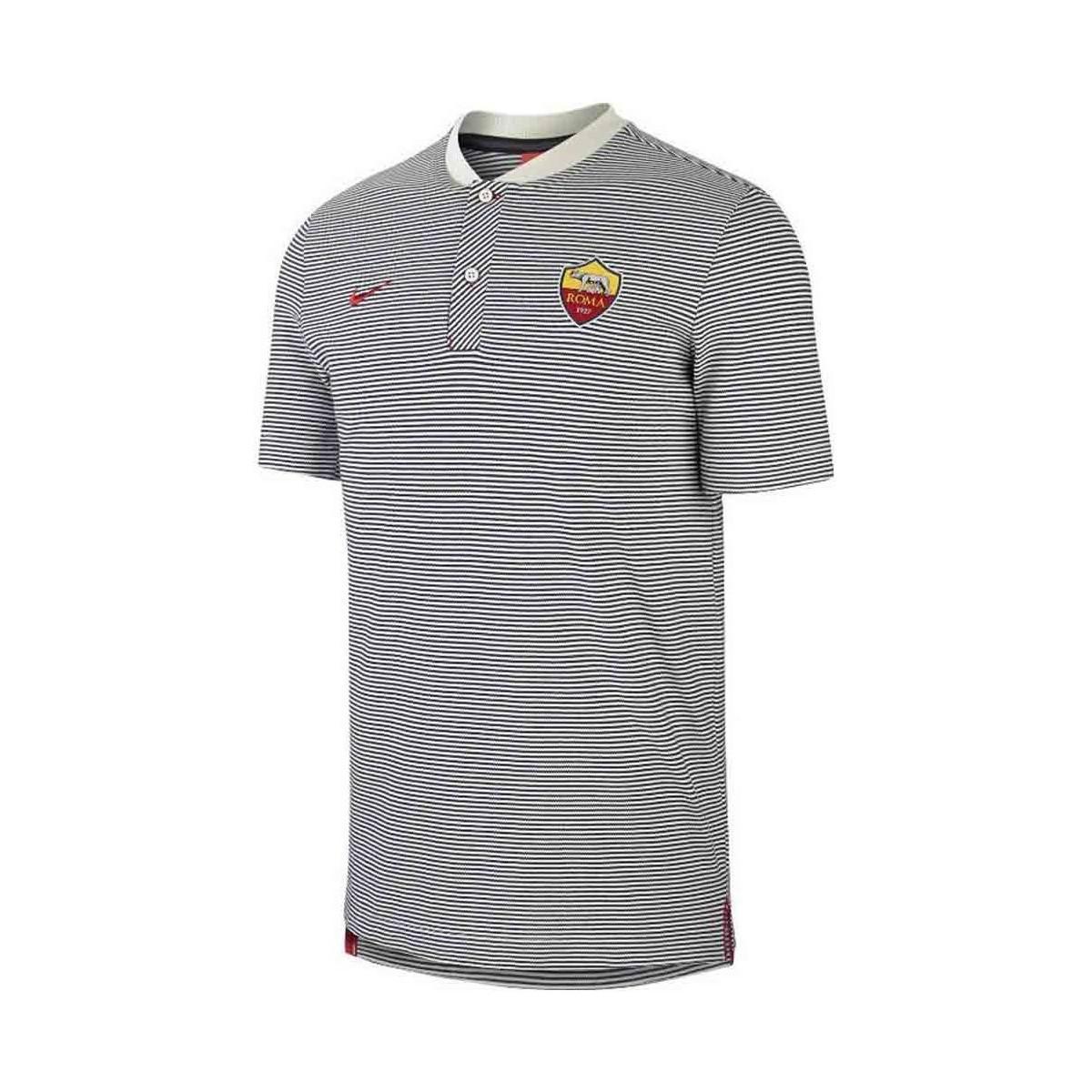 Nike 2017-2018 As Roma Authentic Grand Slam Polo Shirt (light Bone ... 38947616e