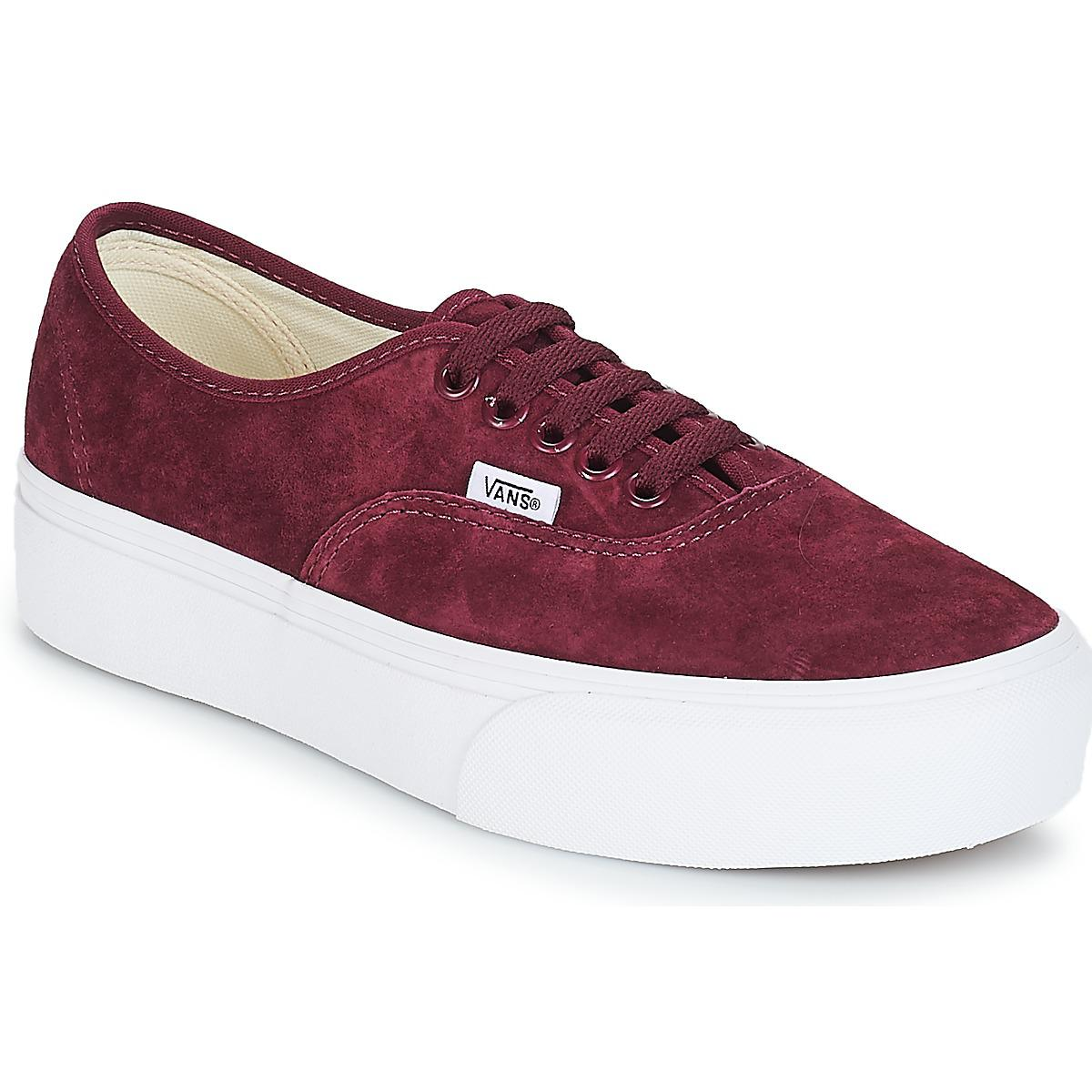 Vans Authentic Platform 2.0 Women s Shoes (trainers) In Red in Red ... f2d162bc3