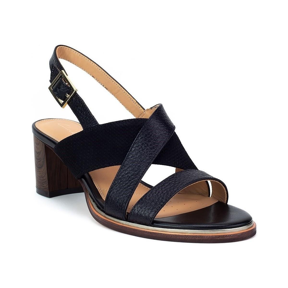 32496a12170f Clarks Ellis Tilda Women s Sandals In Black in Black - Lyst